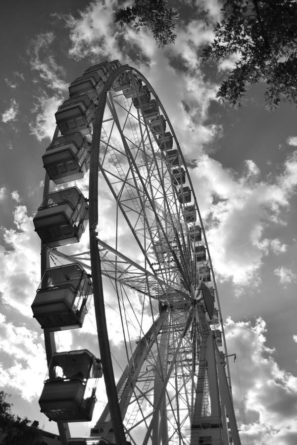 Oeil de Budapest en noir et blanc photo libre de droits