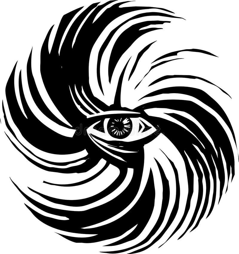 Oeil de cyclone d'ouragan illustration de vecteur