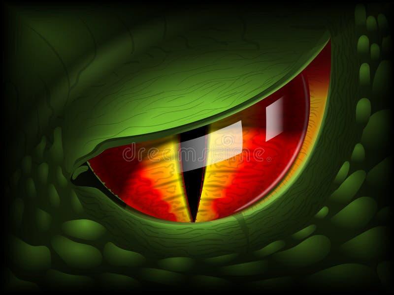 Oeil de dragon Image 3D réaliste illustration stock