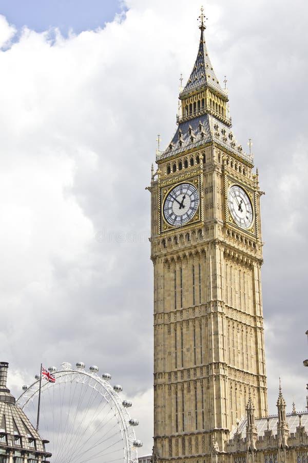 Oeil de grand Ben et de Londres image stock