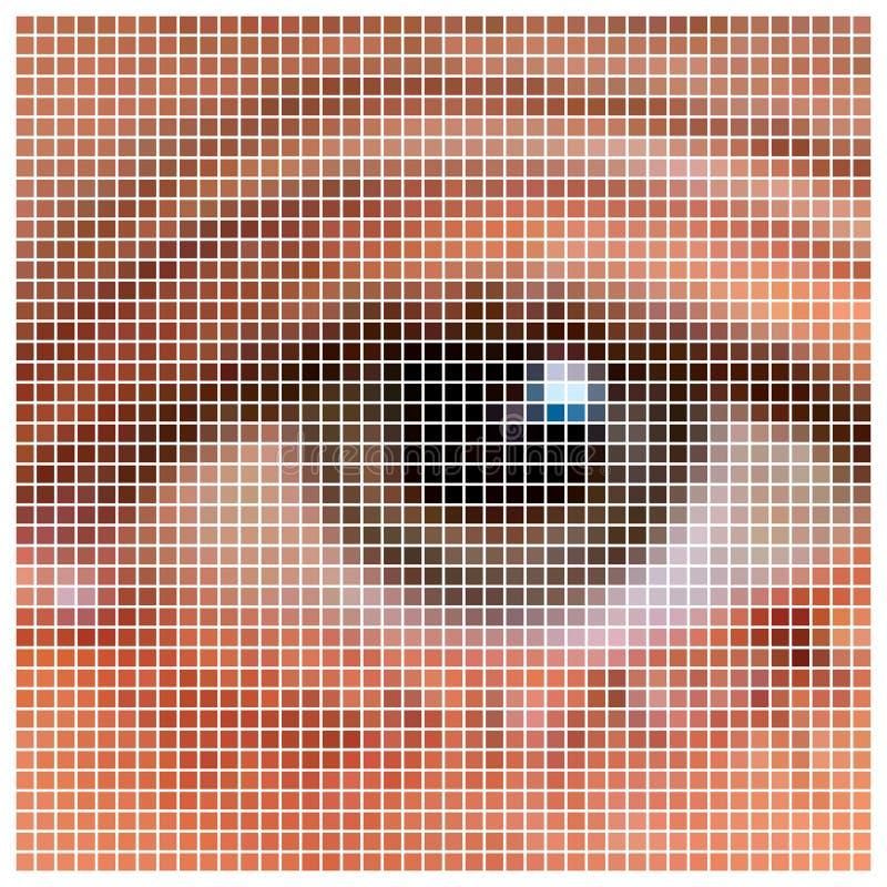 Oeil de pixel illustration de vecteur