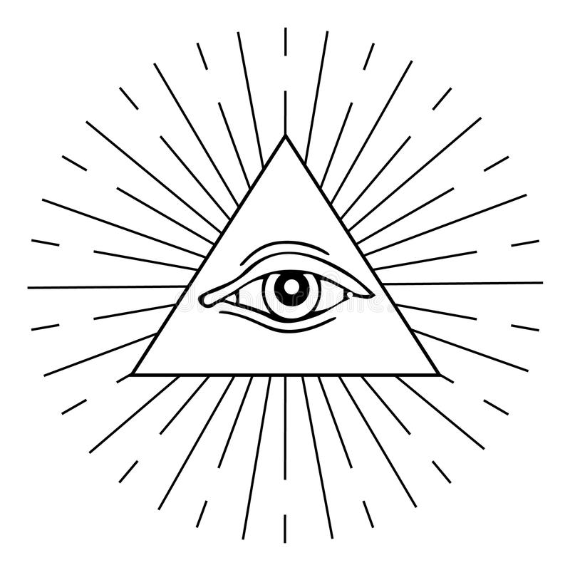 Oeil de Providence illustration de vecteur
