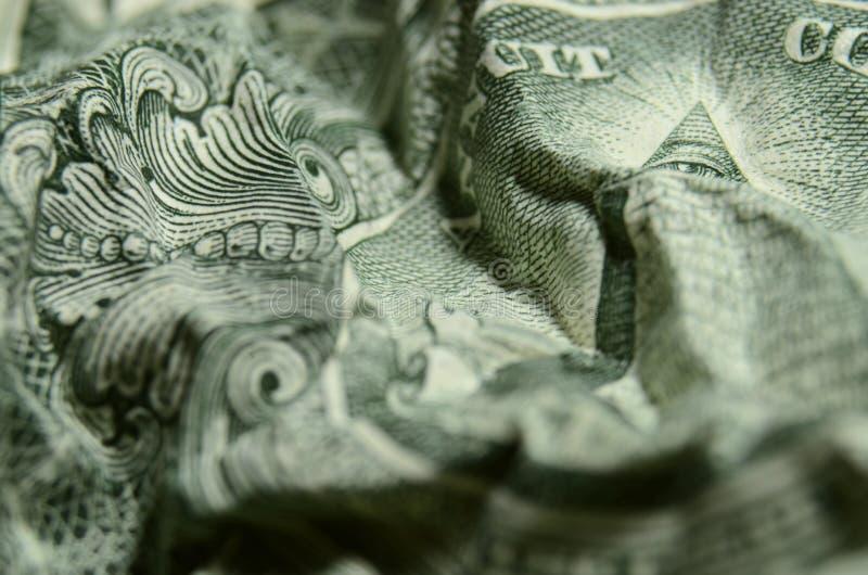 Oeil de providence, du grand joint, sur le billet d'un dollar américain, remarquant images stock