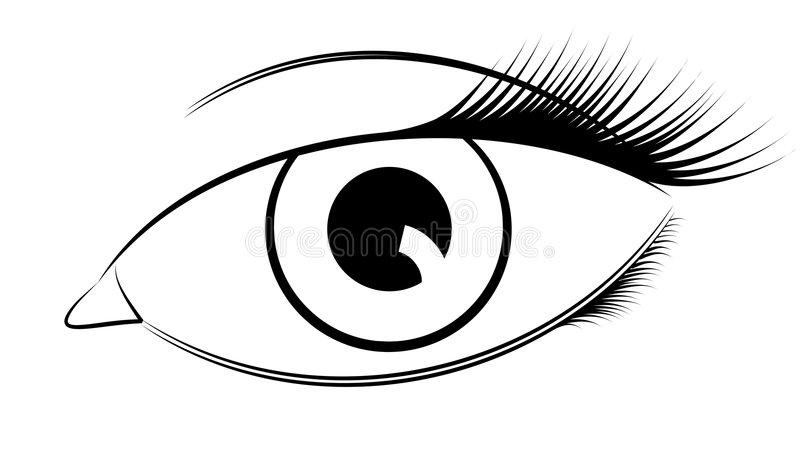 Oeil de vecteur illustration stock