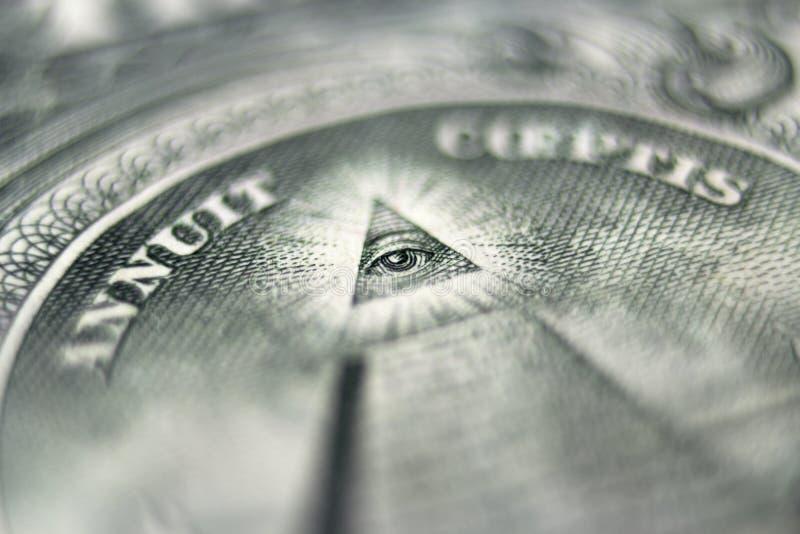 Oeil du dollar image libre de droits