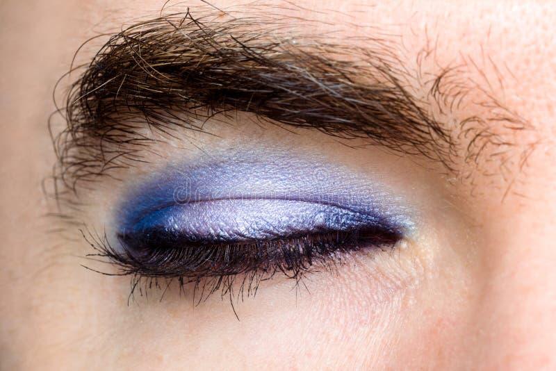 Oeil du ` s de transsexuel photo libre de droits