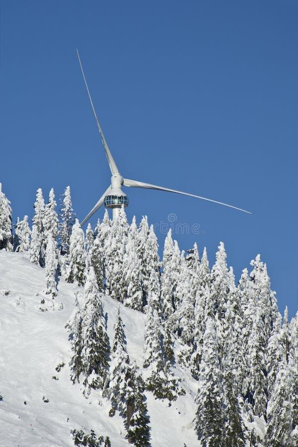 Oeil du tubine de vent, montagne de grouse photos libres de droits