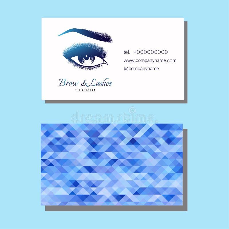Oeil et fronts élégants de Madame avec de pleines mèches illustration de vecteur