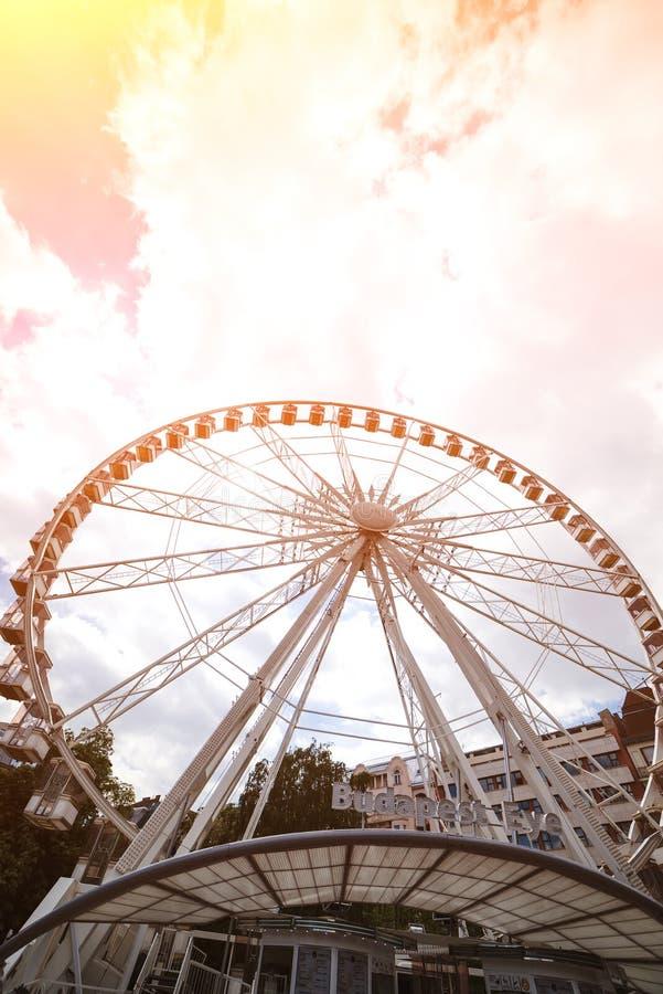 Oeil Ferris Wheel de Budapest D?placement ? l'Europe E r photo libre de droits