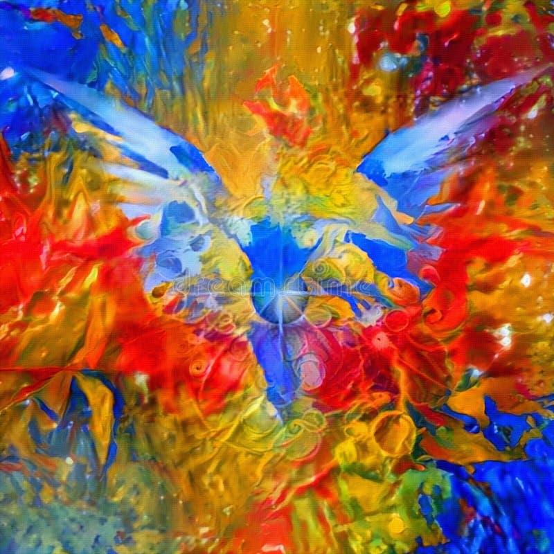 Oeil flamboyant de Dieu illustration stock