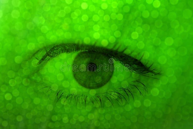 Oeil humain. Image conceptuelle. photos stock