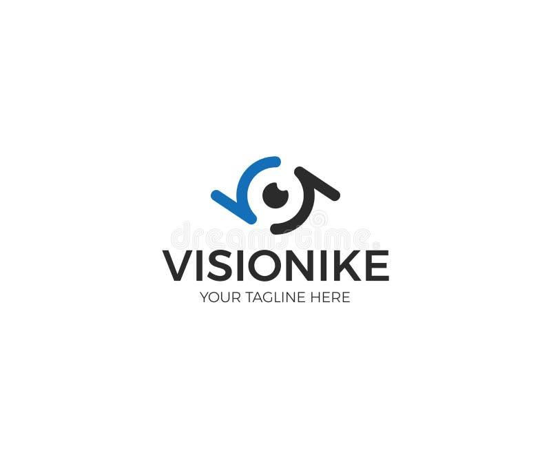Oeil Logo Template de technologie Conception de vecteur de vision illustration libre de droits