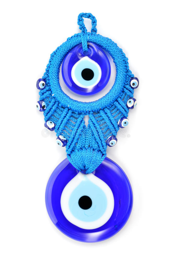 Oeil mauvais d'amulette turque traditionnelle. images stock
