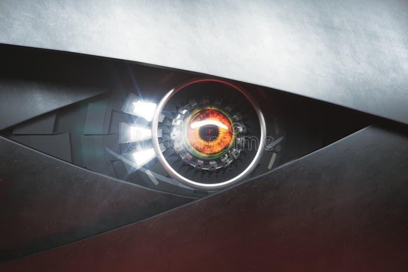 Oeil noisette de cyber illustration de vecteur