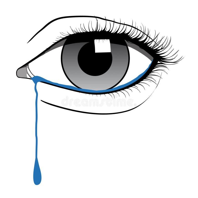 Oeil pleurant illustration de vecteur