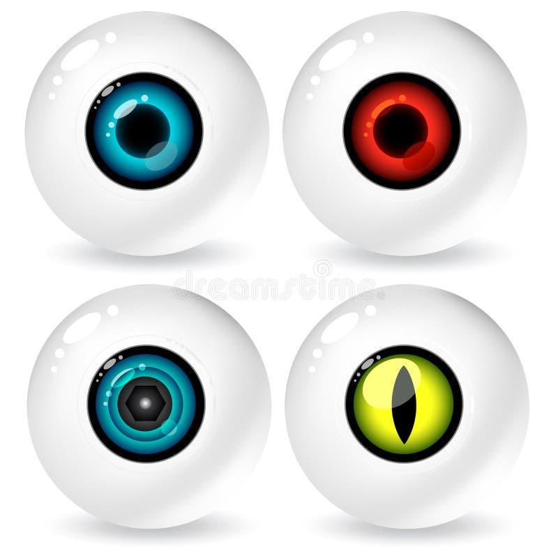 Oeil pour un oeil illustration de vecteur