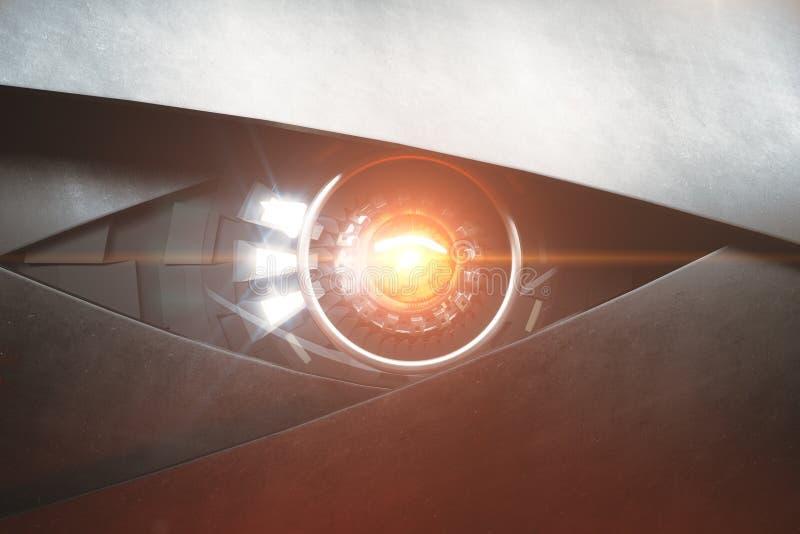 Oeil robotique noisette illustration de vecteur