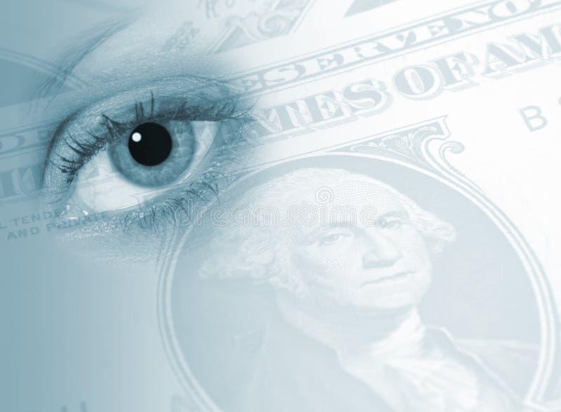 Oeil sur des finances image libre de droits