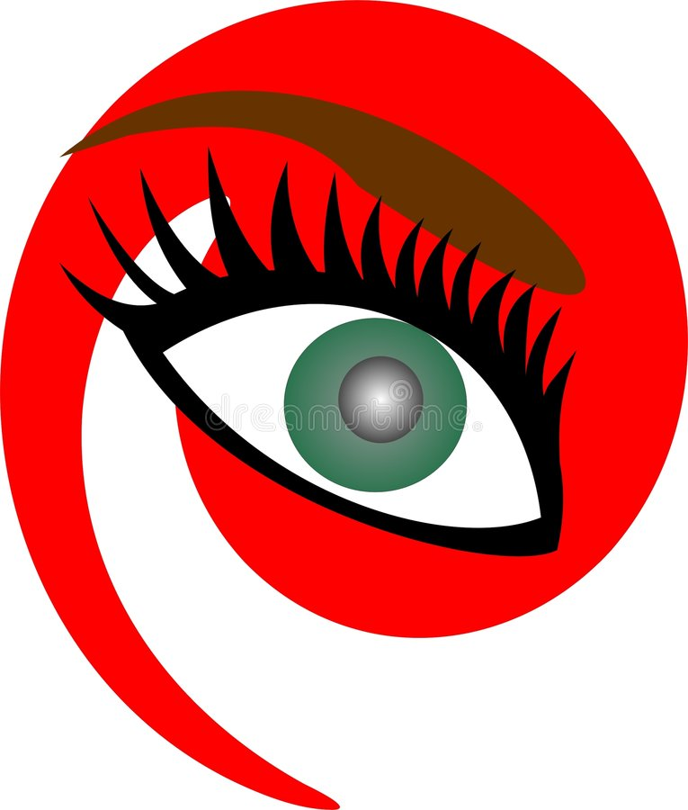 Oeil vert illustration stock