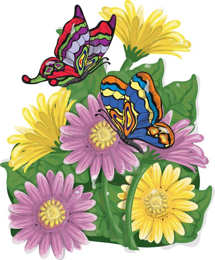 Oeillets et guindineaux illustration de vecteur