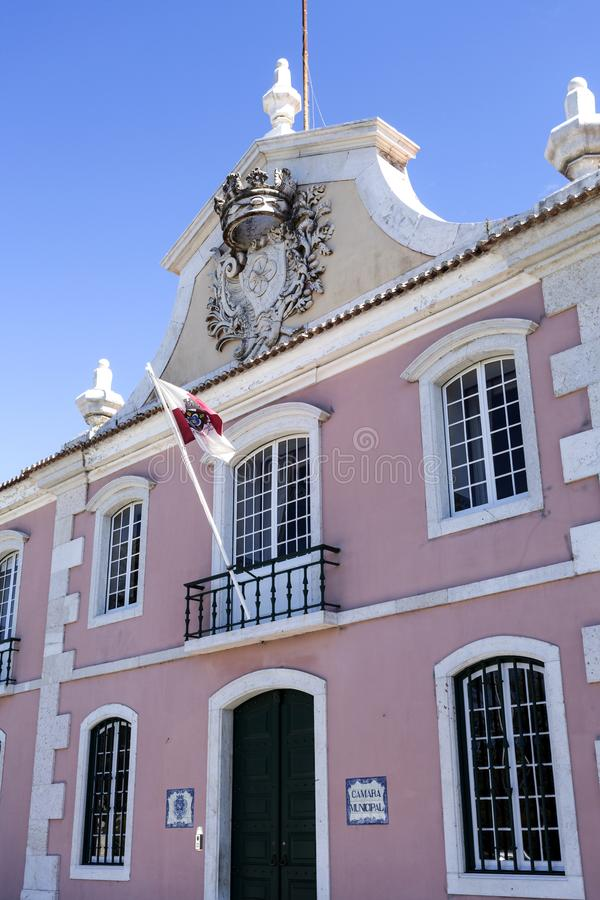 Oeiras城镇厅 免版税库存图片