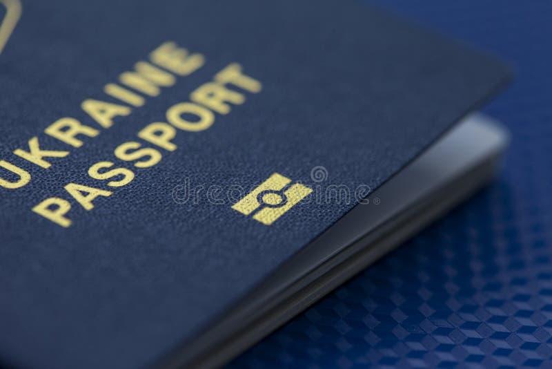 Oekraïens biometrisch paspoort royalty-vrije stock foto's