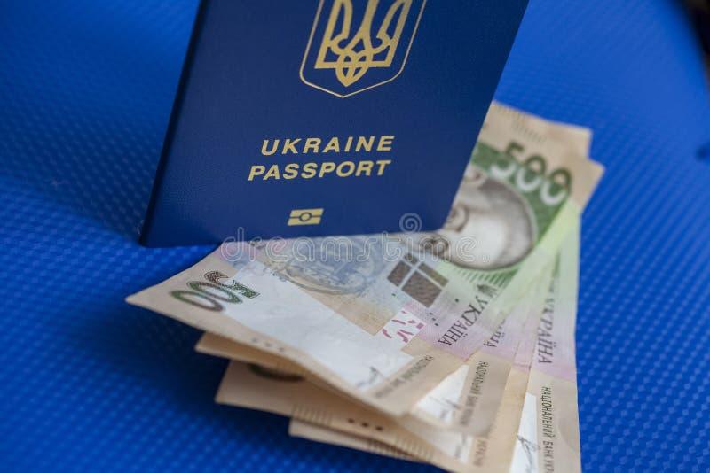 Oekraïens biometrisch paspoort royalty-vrije stock afbeeldingen