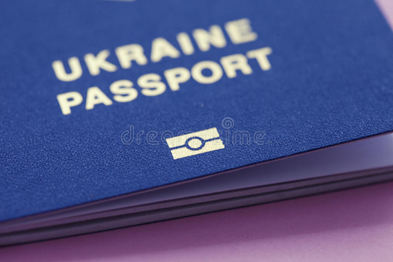 Oekraïens biometrisch paspoort stock fotografie