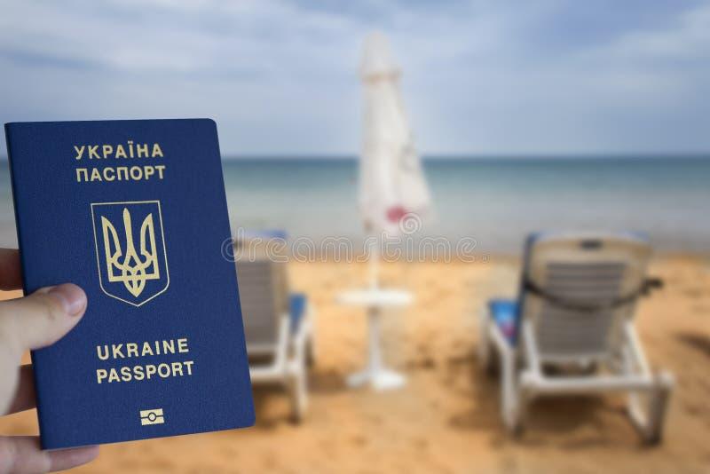 Oekraïens biometrisch paspoort royalty-vrije stock afbeelding