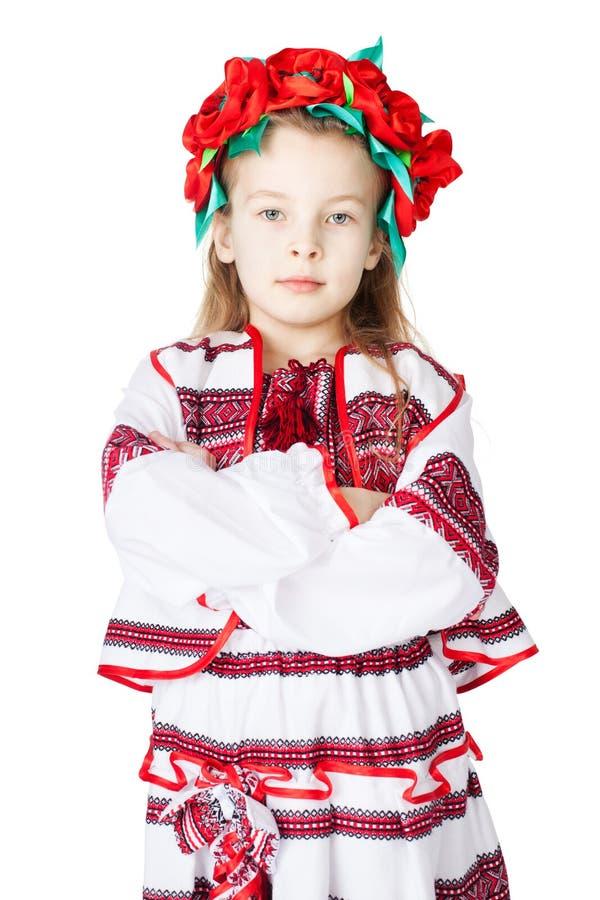Oekraïens Meisje In Nationaal Kostuum Royalty-vrije Stock Foto