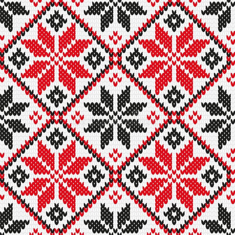 Oekraïens ornament die naadloze textuur breien royalty-vrije illustratie