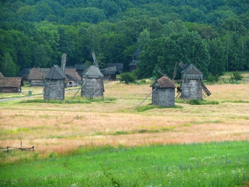 Oekraïens oud dorp royalty-vrije stock foto's