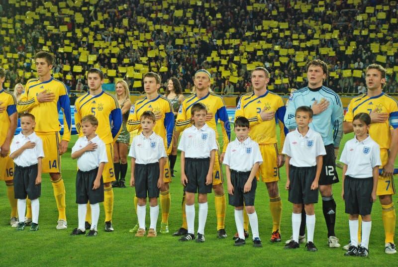 Oekraïens teamvolkslied royalty-vrije stock afbeelding