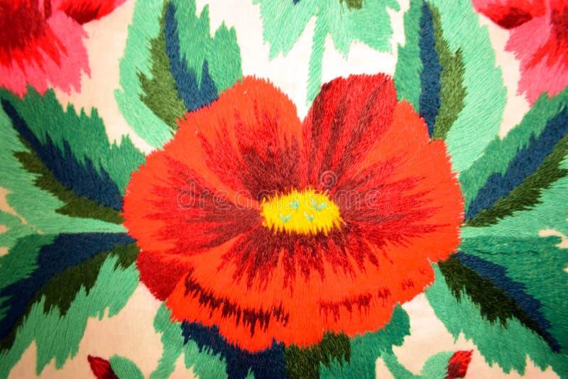 Oekraïens volksborduurwerk, etnische textuur, ontwerp, ornament stock foto's
