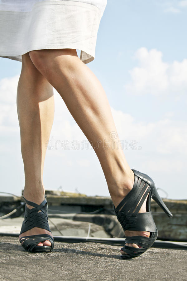 Oekraïense benen stock foto