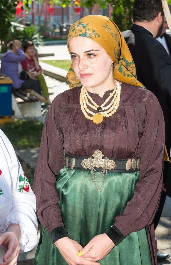 Oekraïense deelnemer van het festival van Orthodoxe muziek in Pomorie, Bulgarije stock afbeelding