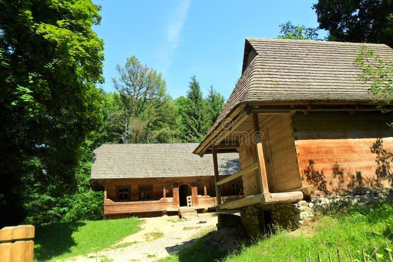 Oekraïense dorpshuizen royalty-vrije stock fotografie