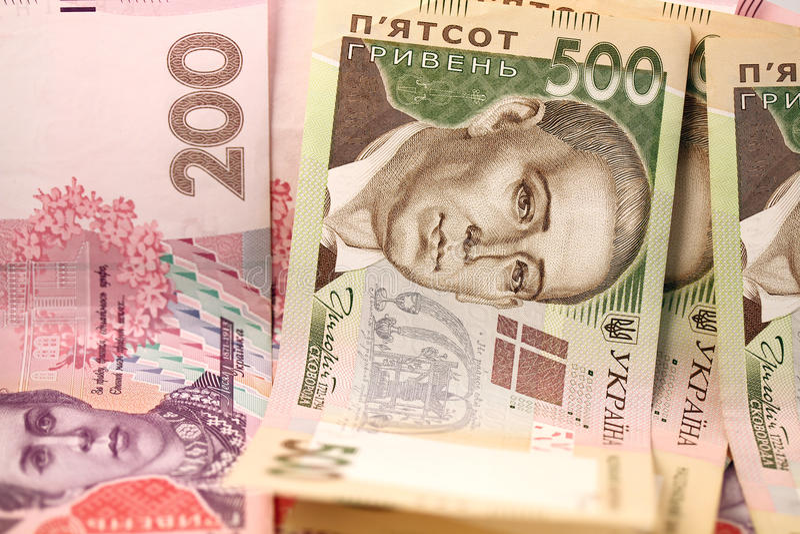 Oekraïense grivna royalty-vrije stock afbeelding