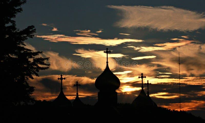 Oekraïense kerk in Cleveland royalty-vrije stock foto's
