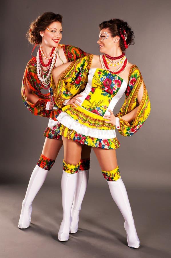 Oekraïense meisjesmanier stock afbeelding