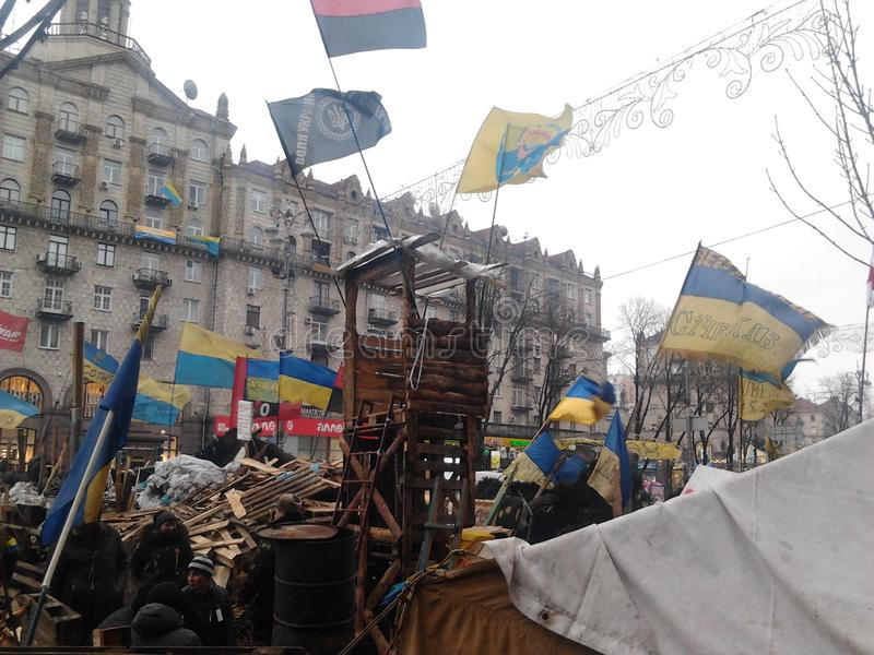 Oekraïense Revolutiewaardigheid Euromaidan royalty-vrije stock afbeelding