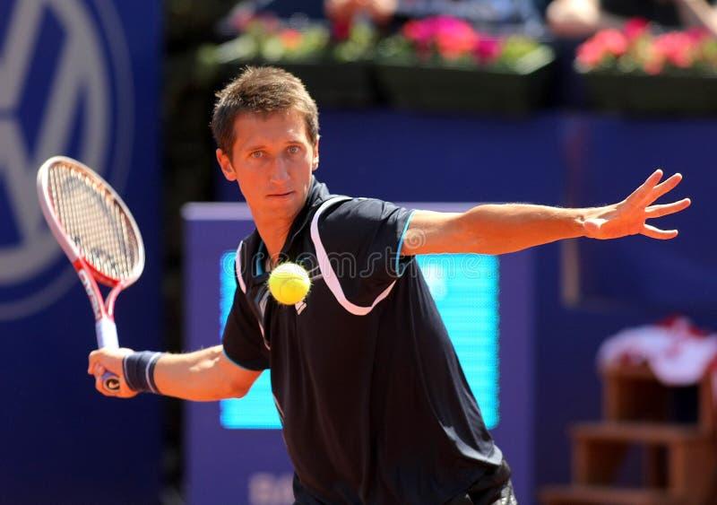 Oekraïense tennisspeler Sergiy Stakhovsky stock foto's