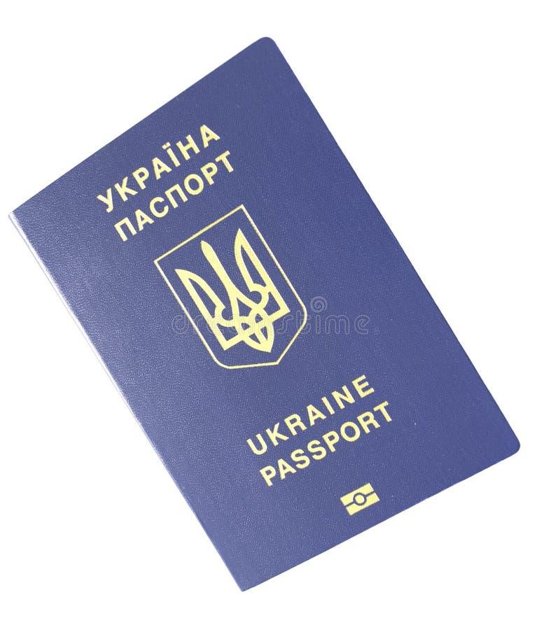 Oekra?ens biometrisch paspoort royalty-vrije stock foto