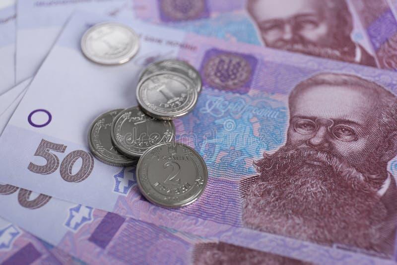 Oekra?ens geld Nationale valuta stock foto