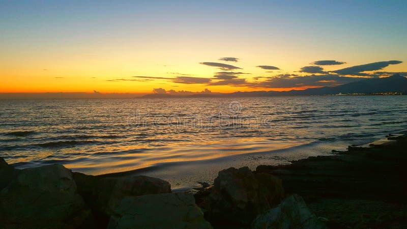 oerhörd solnedgång royaltyfri bild