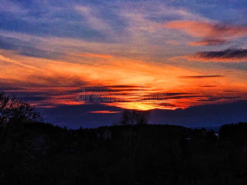 oerhörd solnedgång royaltyfria foton