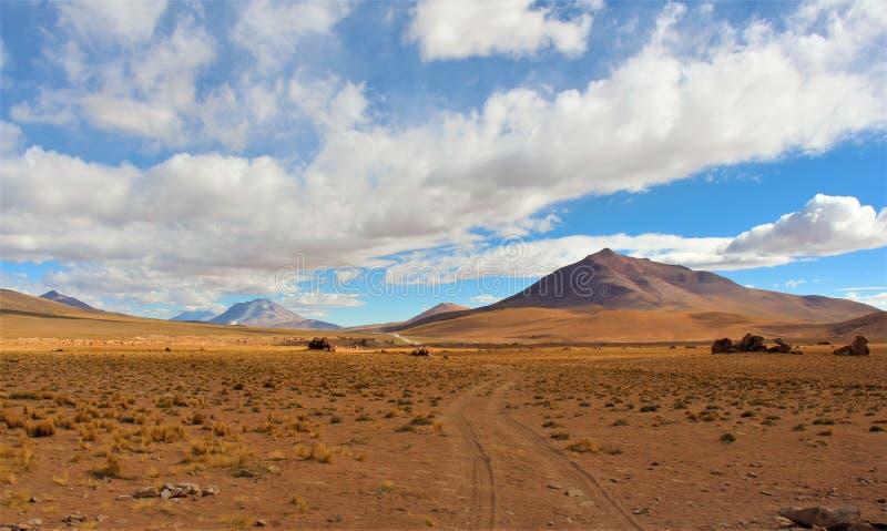 Oerhörda ökenlandskap i Bolivia royaltyfri foto