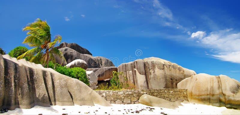 oerhörda seychelles royaltyfri foto