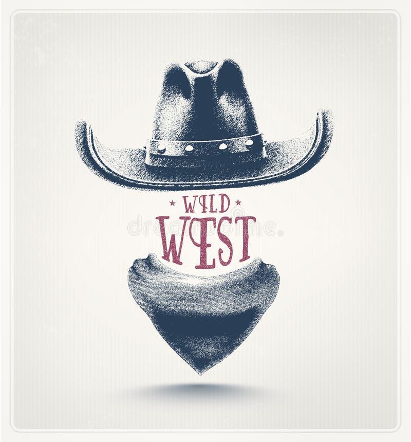 Oeste salvaje stock de ilustración