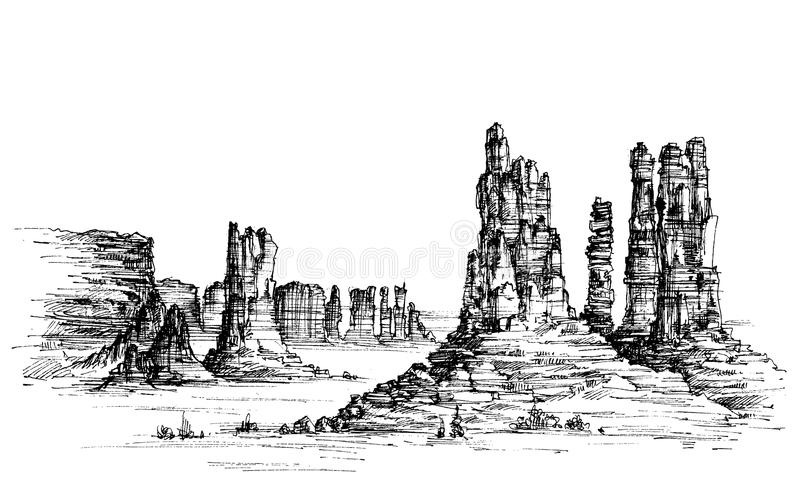 Oeste salvaje ilustración del vector